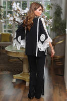 Picture of Black and white jacket set